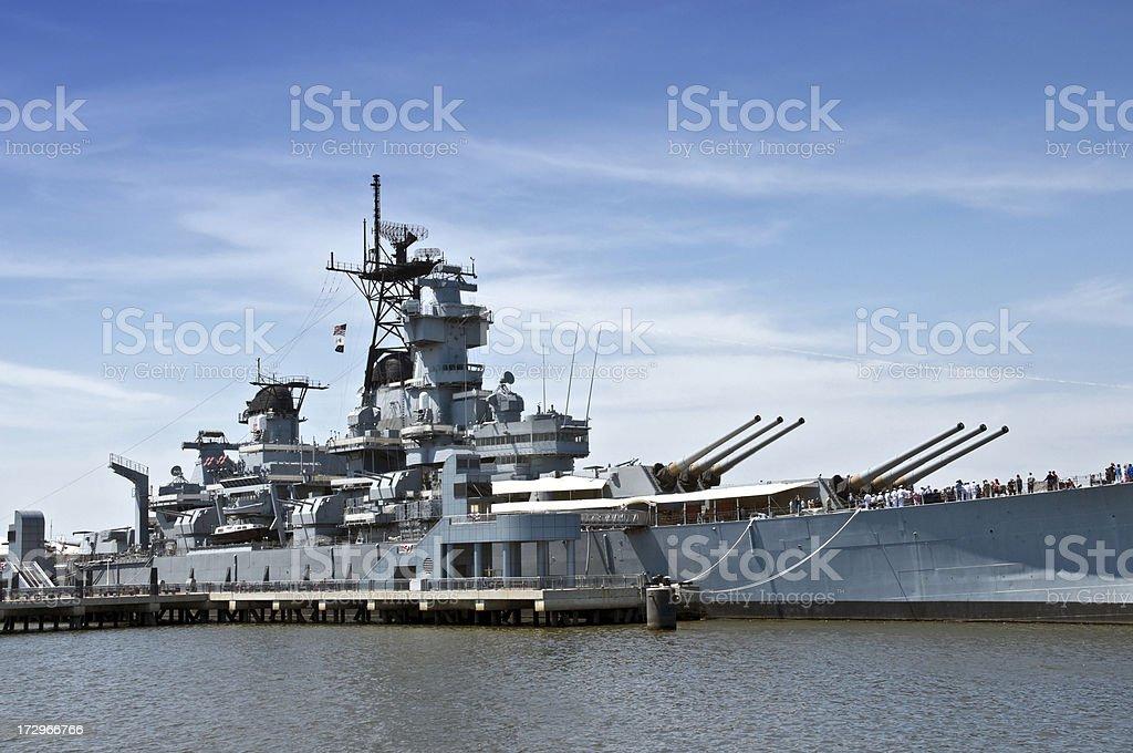 Battleship New Jersey stock photo