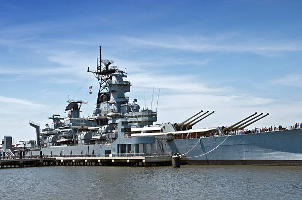Battleship New Jersey stock photo