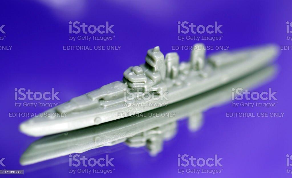 Battleship on the Table stock photo