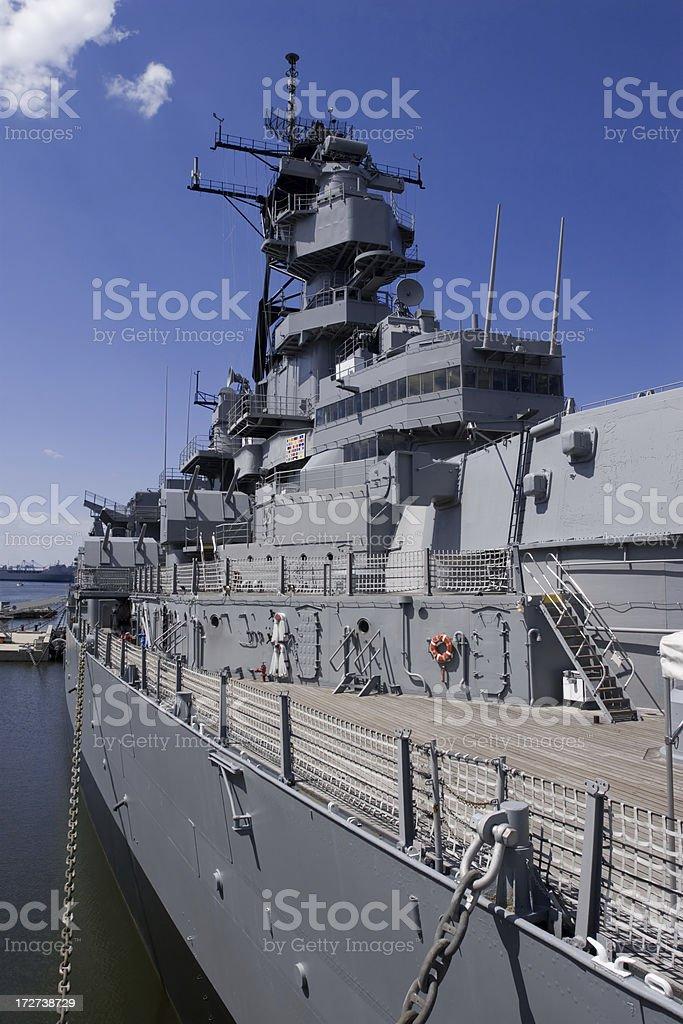 Battleship Side royalty-free stock photo