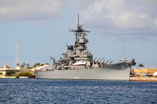 Battleship USS Missouri in Pearl Harbor