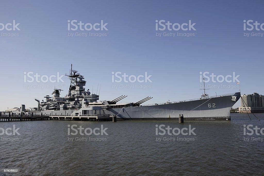 Battleship USS New Jersey at Camden, NJ royalty-free stock photo