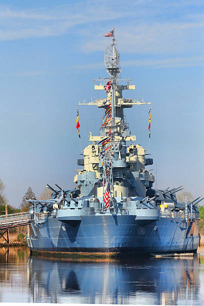 Battleship USS North Carolina stock photo