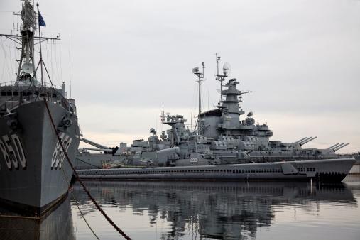 Battleships at Battleship Cove