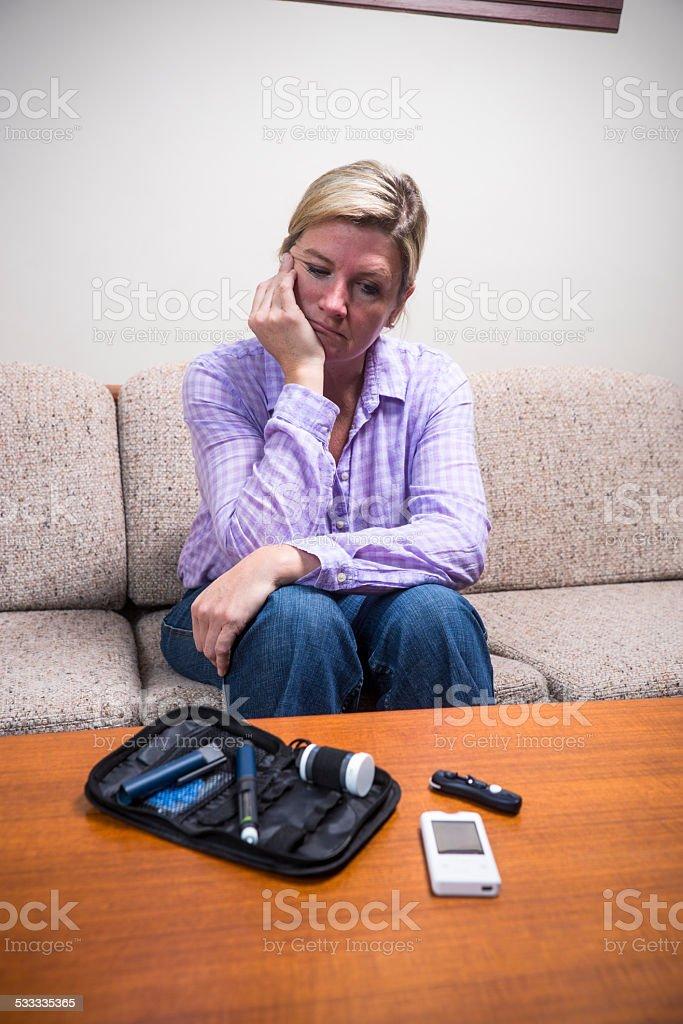 Battling diabetes stock photo