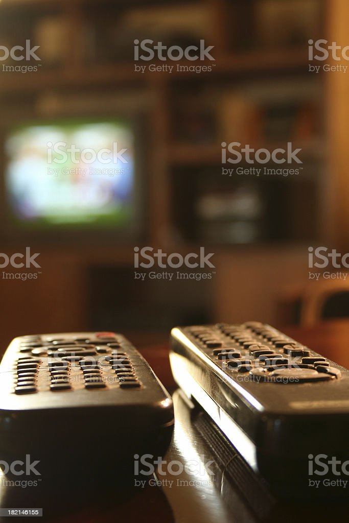 Battling Remotes royalty-free stock photo