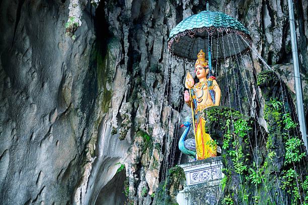 Batu Caves, Kuala Lumpur - Malaysia Hindu goddess  in the Batu Caves, Kuala Lumpur - Malaysia. kuala lumpur batu caves stock pictures, royalty-free photos & images