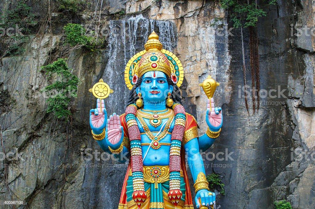 Batu Caves statue and entrance near Kuala Lumpur zbiór zdjęć royalty-free