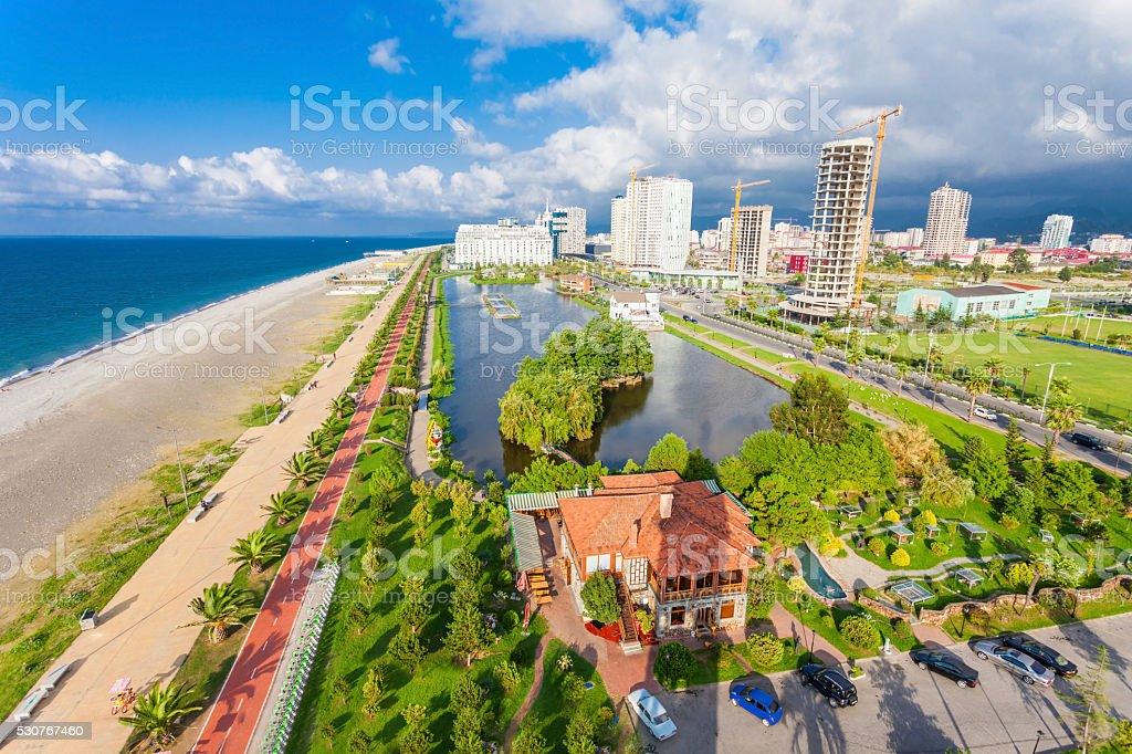 Batumi aerial view stock photo