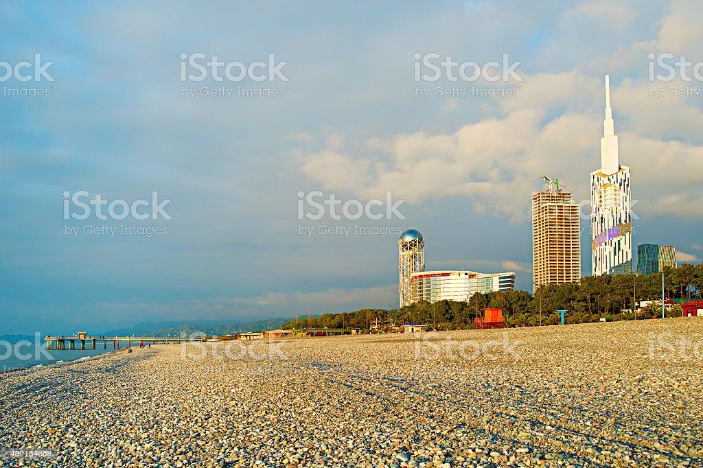 Batumi beach, Georgia stock photo