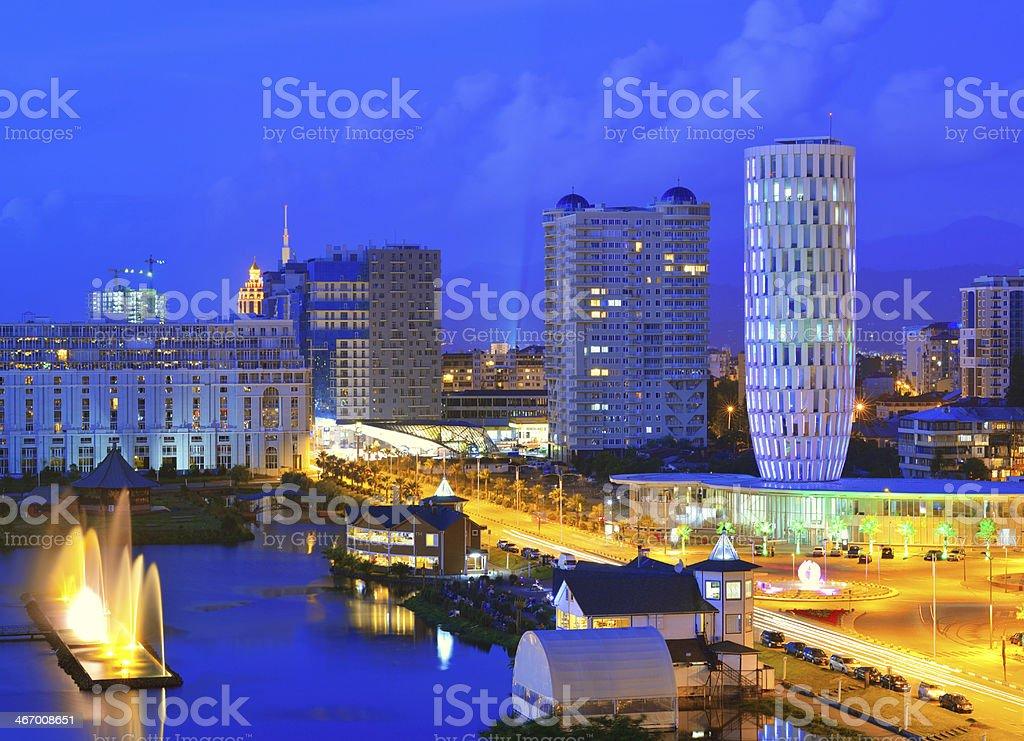 Batumi, capital of Adjara. stock photo