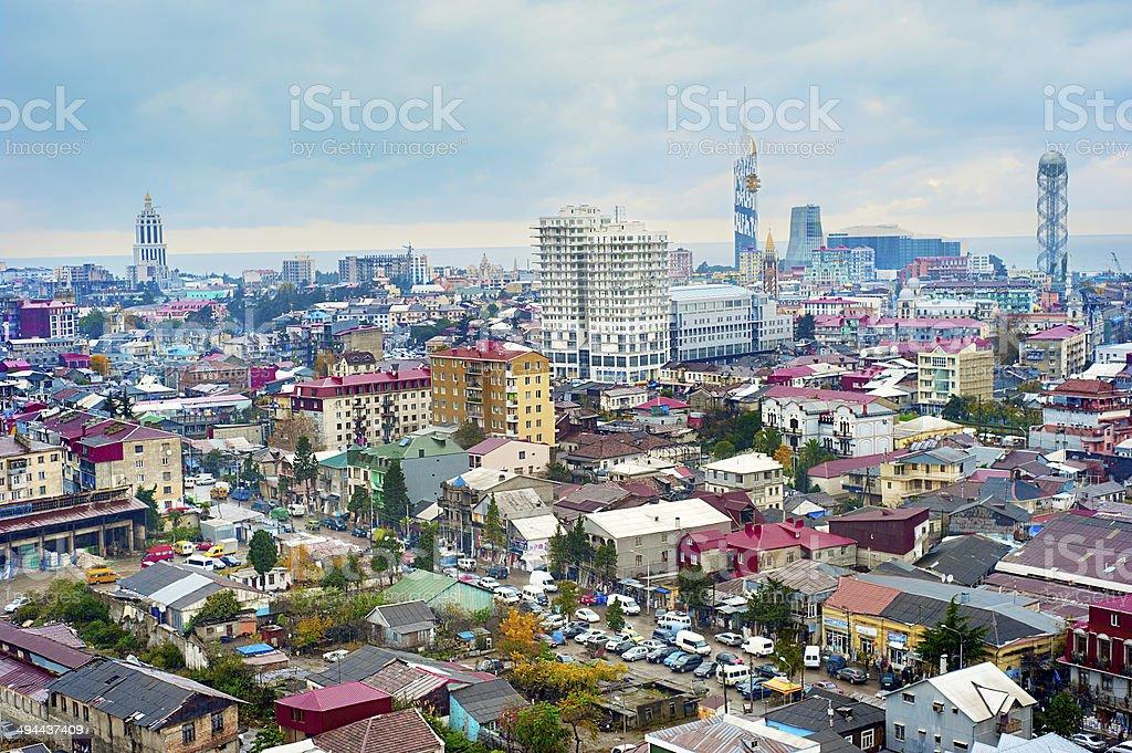 Batumi cityscape stock photo