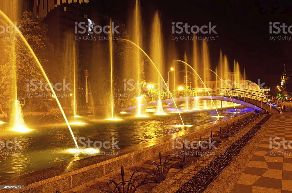 Batumi fountain show royalty-free stock photo