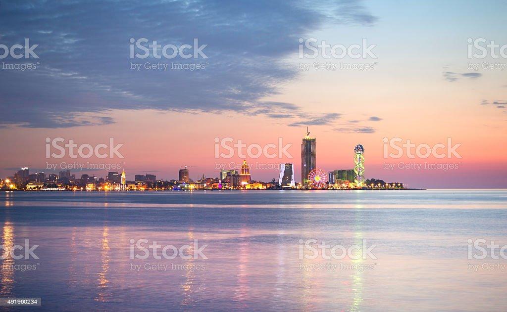 Batumi panorama, Georgia stock photo