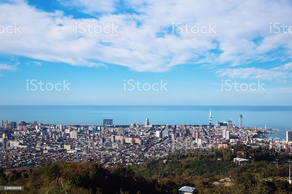 Batumi skyline, Georgia stock photo