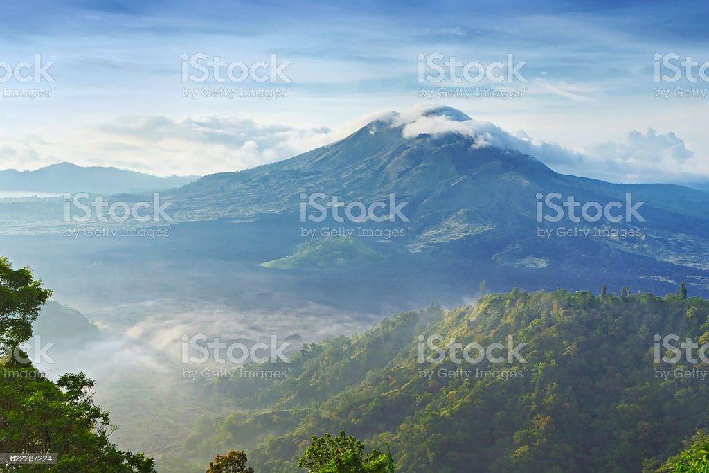 Batur volcano stock photo