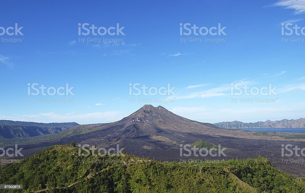 Batur volcano royalty-free stock photo