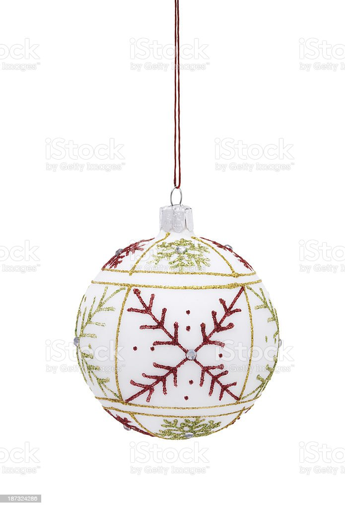 Bauble with red star royalty-free stock photo