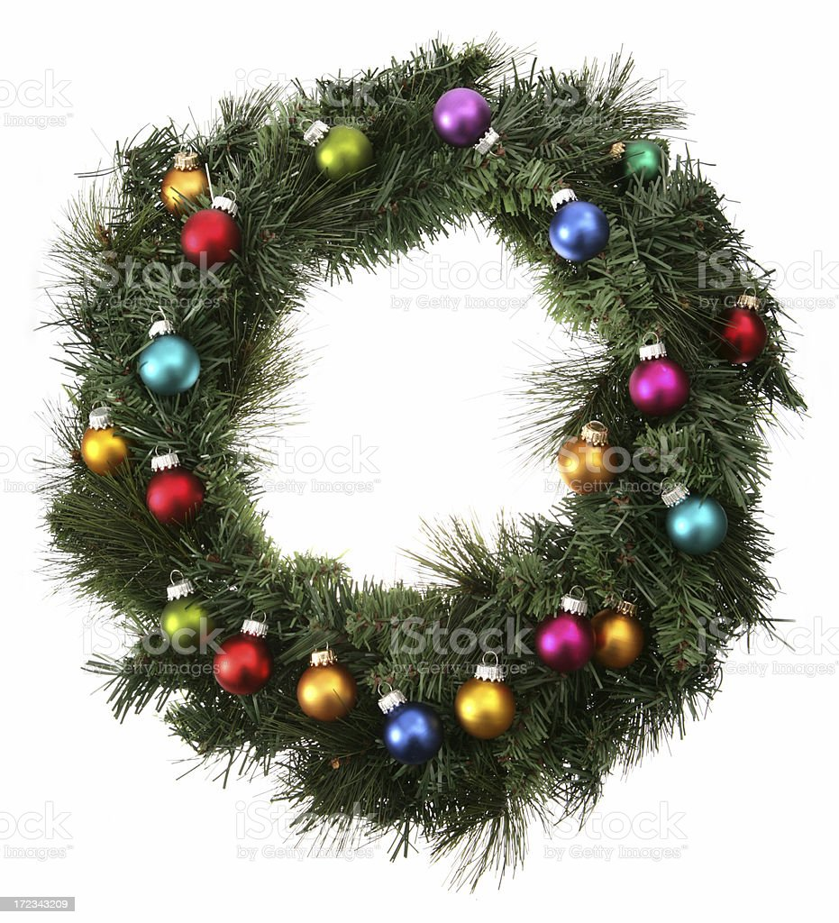 Bauble Wreath royalty-free stock photo