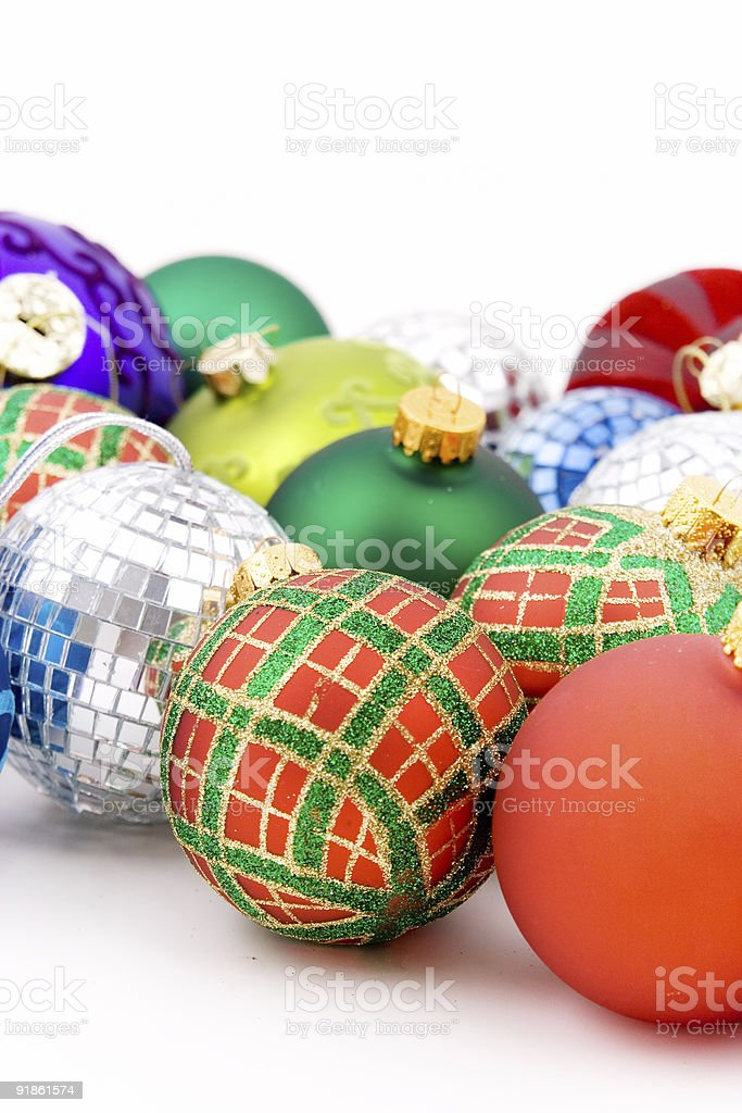 Baubles and discoballs royalty-free stock photo