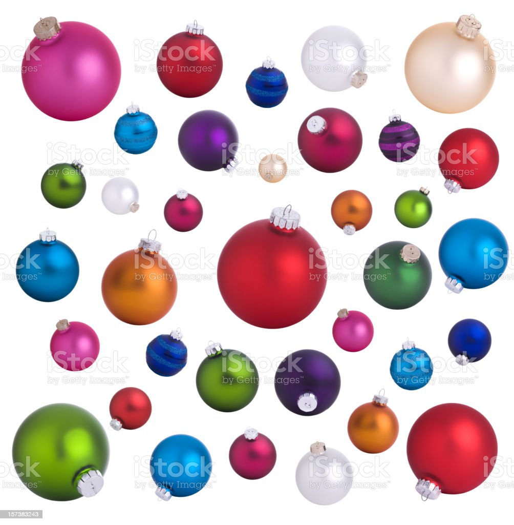 Baubles Background royalty-free stock photo