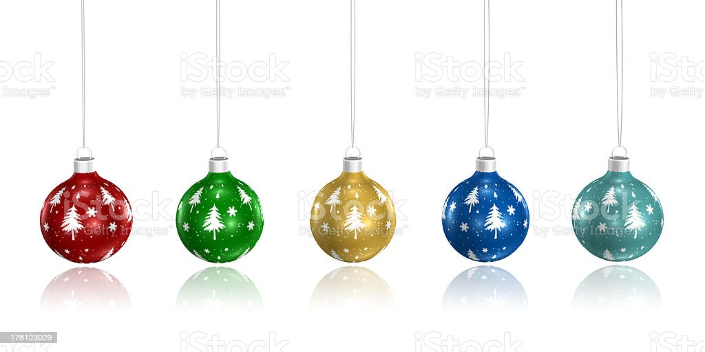 baubles, christmas balls royalty-free stock photo