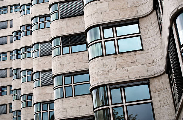 bauhaus building berlin stock photo