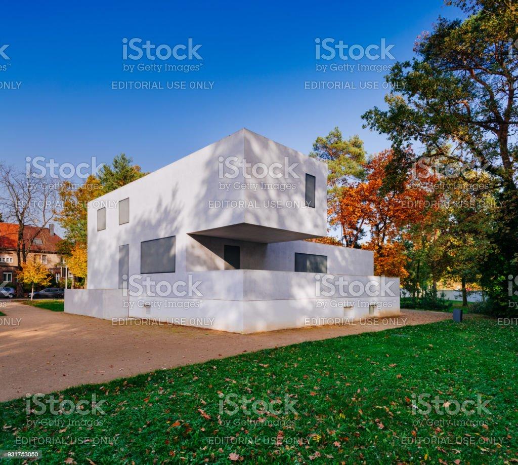 Bauhaus Dessau Meisterhäuser Walter Gropius Haus Des Meisters Stock