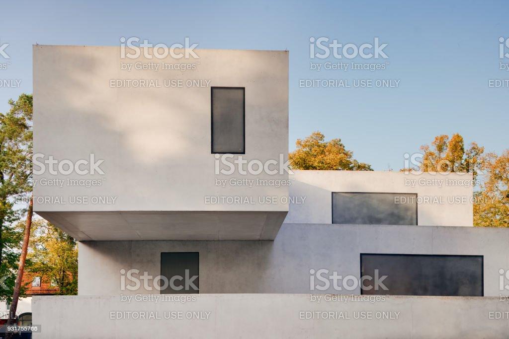 Bauhaus Dessau Rear View Meisterhäuser Walter Gropius Haus Des