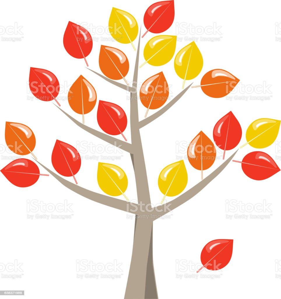 Baum mit bunten Herbstlaub stock photo