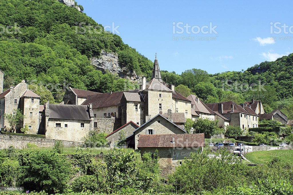 Baume-les-Messieurs in the Jura stock photo