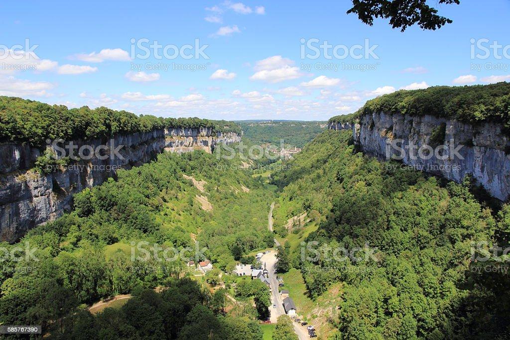 Baume-les-Messieurs, village of Jura stock photo