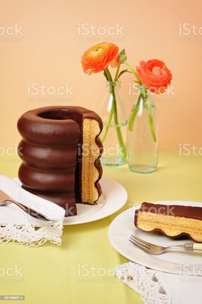 Baumkuchen, einem traditionellen deutschen Kuchen – Foto