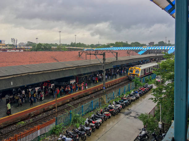 CSMT baunt electric local train at kalyan junction platform No seven Kalyan Maharashtra