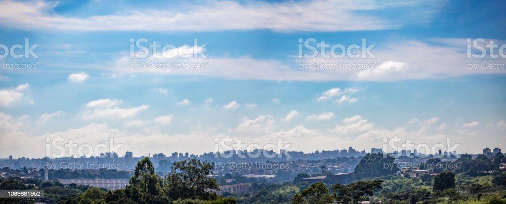 Vista da cidade de Bauru. A cidade está localizada no interior do estado de São Paulo - foto de acervo