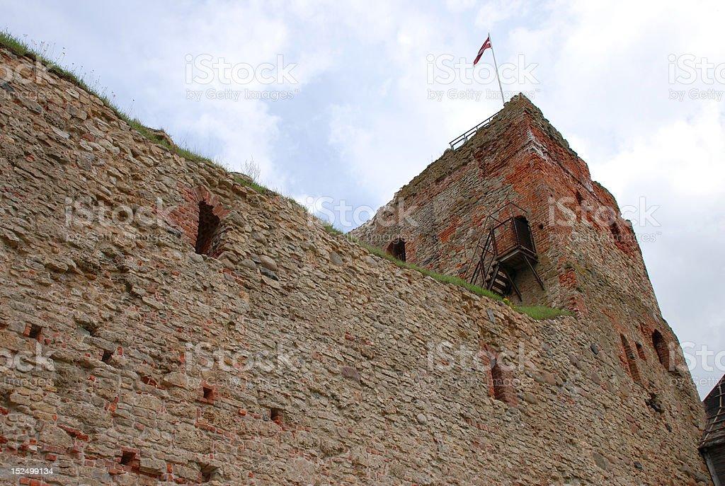 Bauska castle royalty-free stock photo