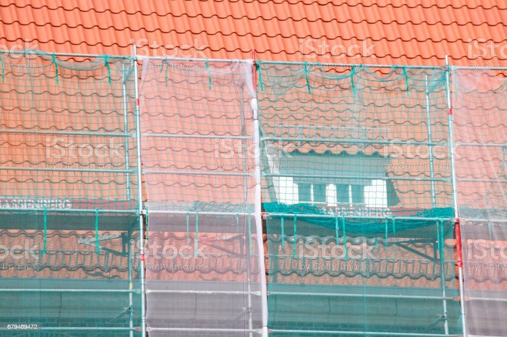 Baustelle Dachsanierung 免版稅 stock photo