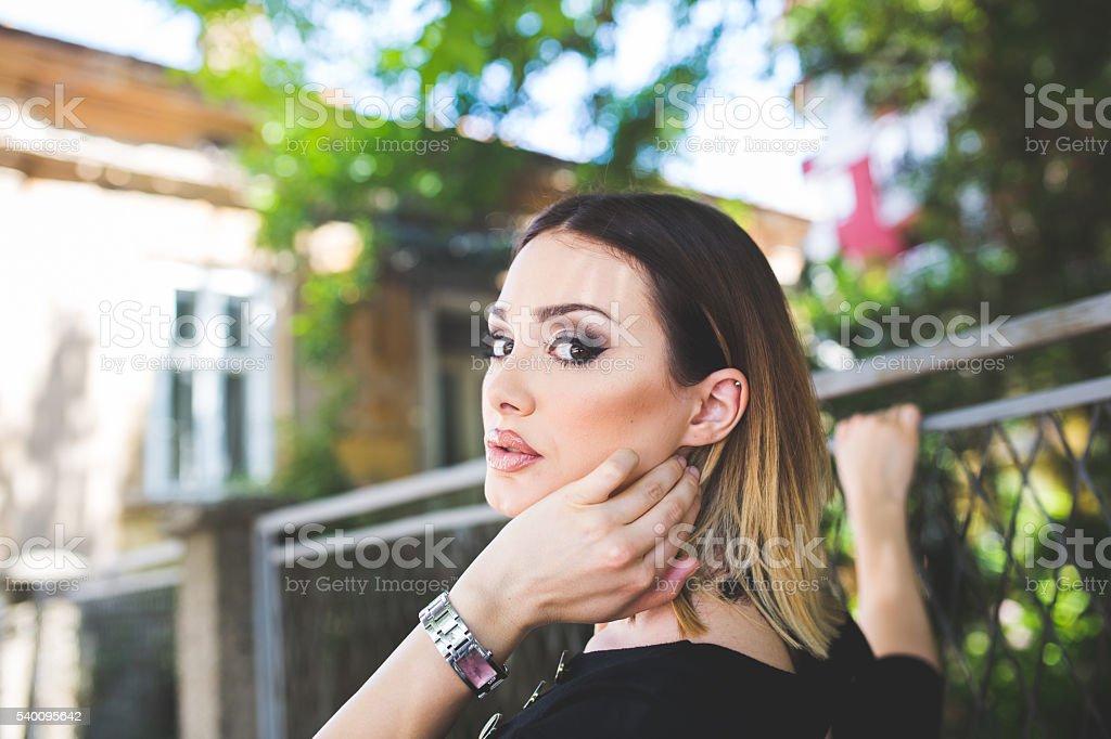 Bautiful girl stock photo