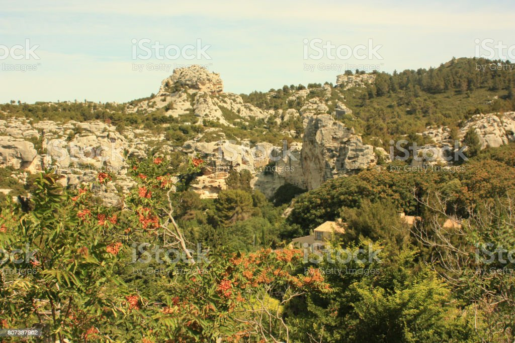 Baux de Provence - Tourist place stock photo
