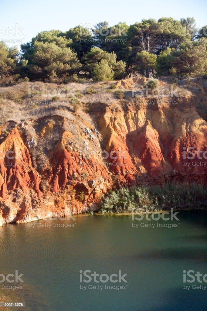 Bauxite Lake Cave stock photo