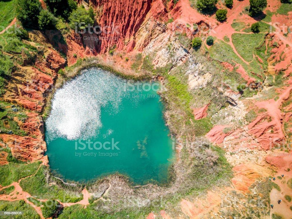 Bauxite Quarry Lake in Otranto, Italy - Photo