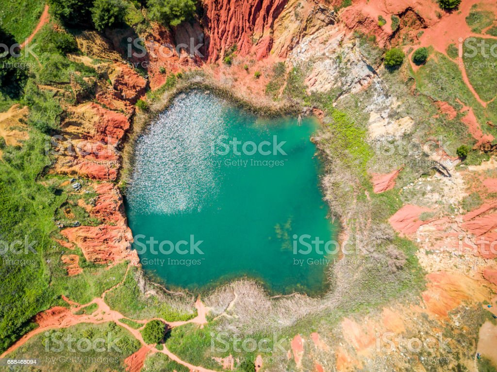 Otranto Italy Map.Bauxite Quarry Lake In Otranto Italy Stock Photo More Pictures Of
