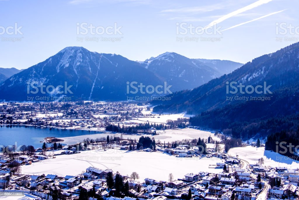bavaria - bad wiessee stock photo