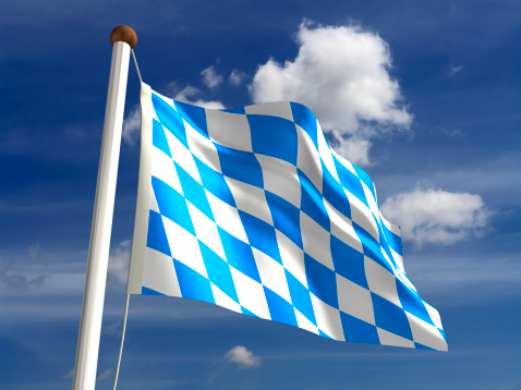 Bavaria flag Germany (isolated with clipping path)