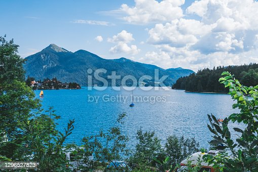 istock Bavaria, Germany: famous landscape at lake chiemsee 1296527823