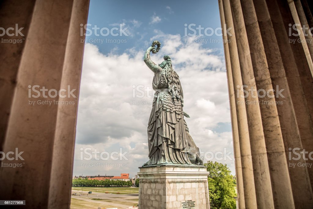 Bavaria Statue from rear view royalty-free stock photo