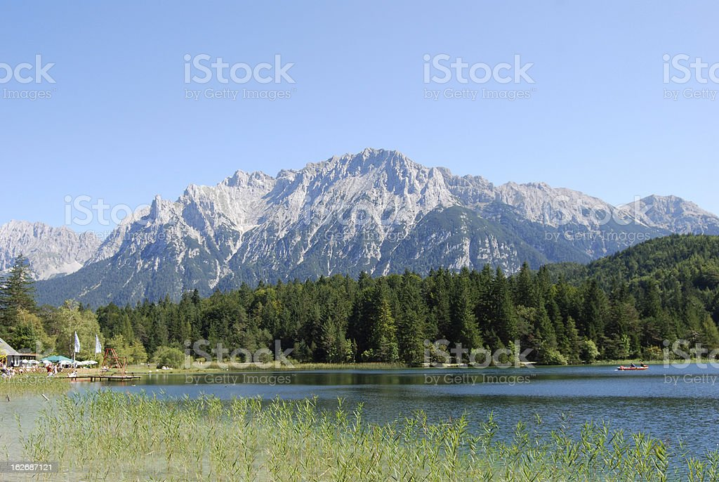 Bavaria-idyllic lake stock photo