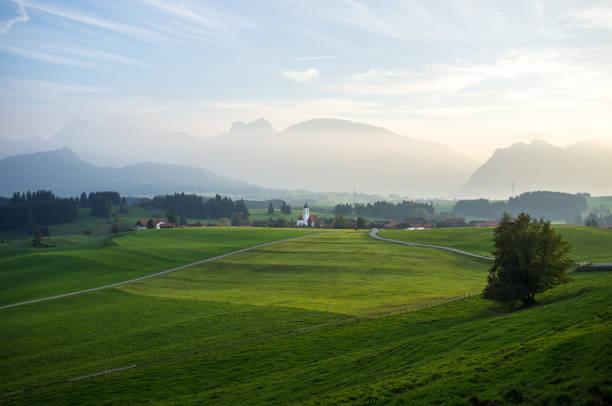 Bayerischen Alpen in der Abenddämmerung – Foto