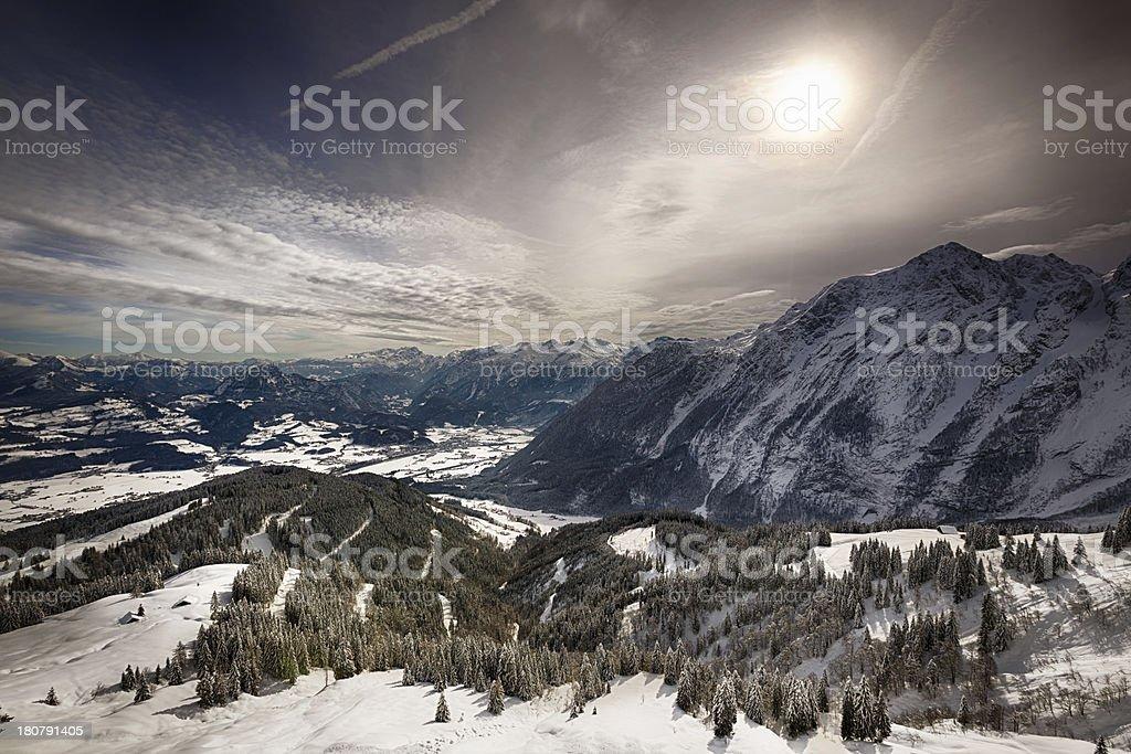 Bavarian Alps, Berchtesgadener Land, Germany stock photo