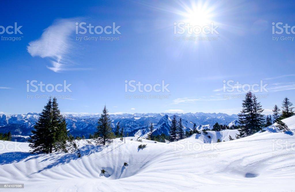 bavarian alps - hirschberg royalty-free stock photo